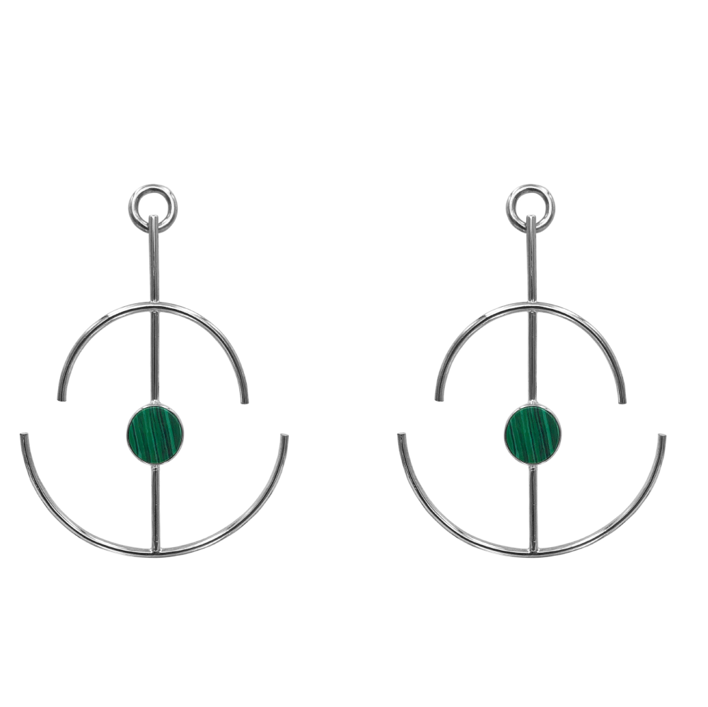 Anchor Earrings Malaquita_2