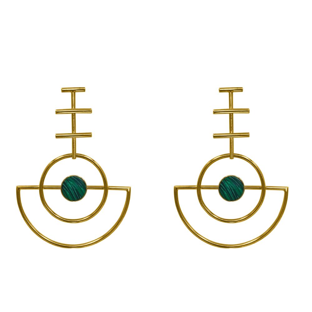 Bonny Earrings Malaquita_1