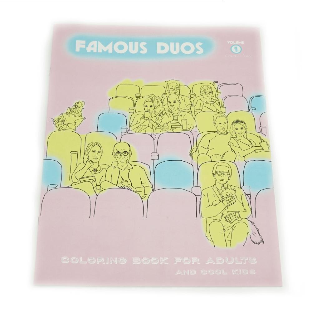 Famous Duos Libro Para Colorear _1