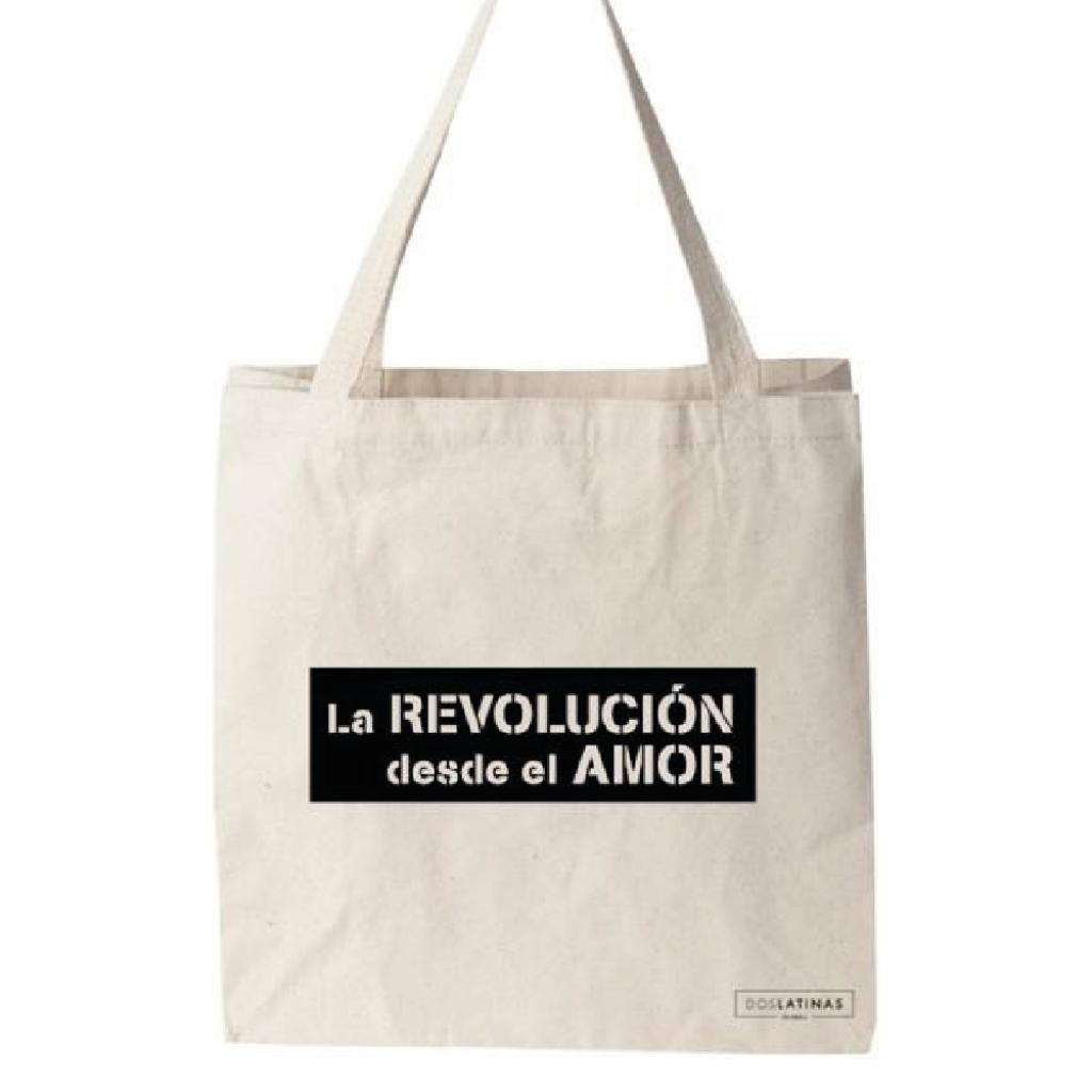 La Revolución Desde El Amor Negro Tote Bag _1