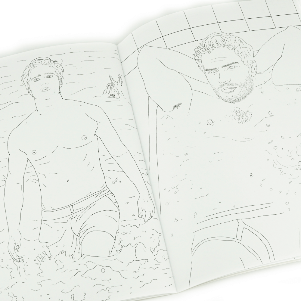 Hot Hunks Libro Para Colorear _2