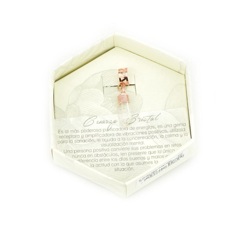Cuarzo Cristal Ear Cuff Cobre_1