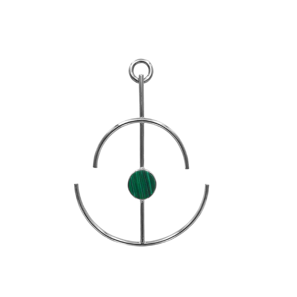 Anchor Earrings Malaquita_3
