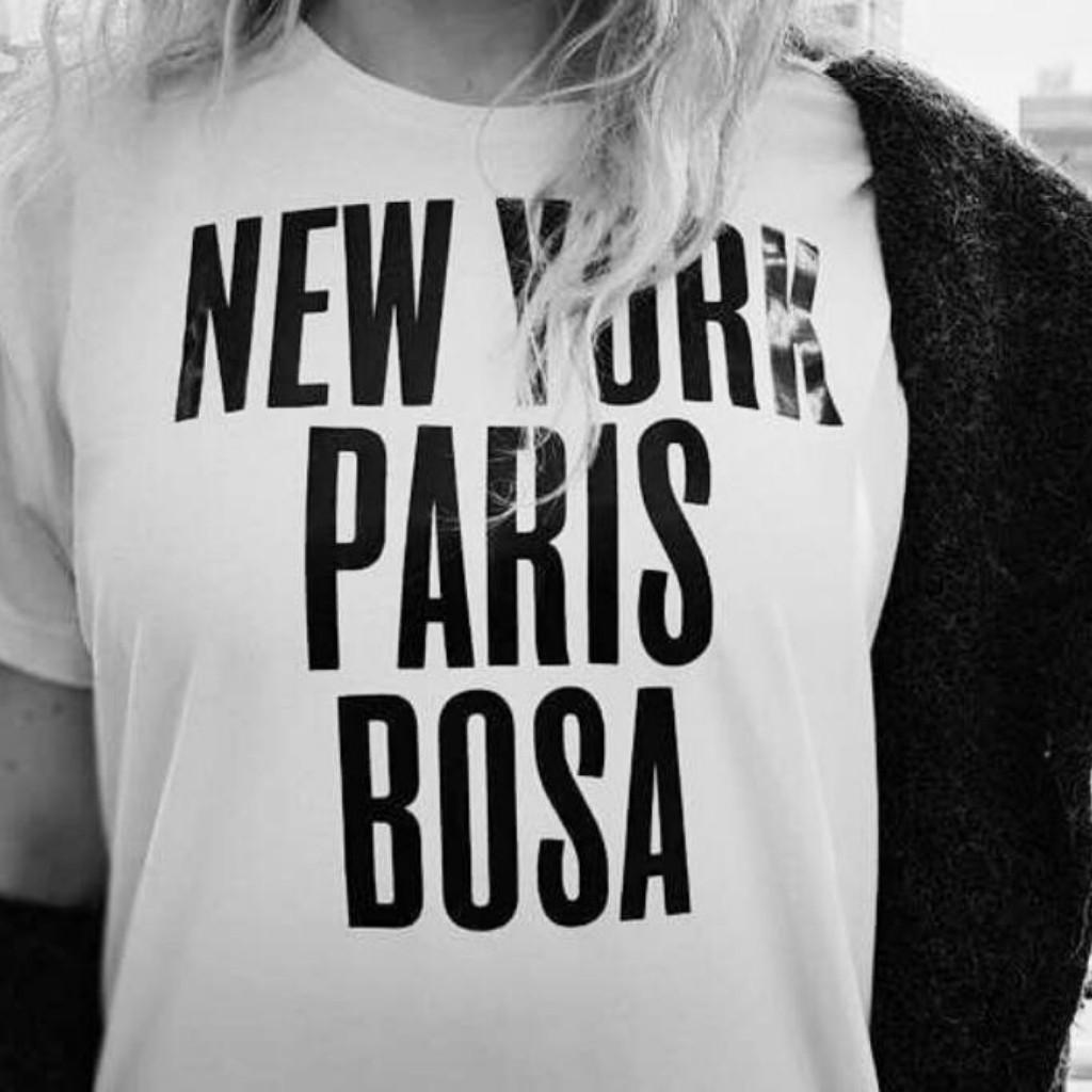 Camiseta New York, Paris, Bosa_1