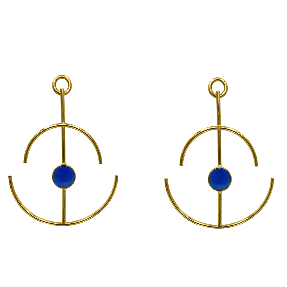 Anchor Earrings Lapislázuli_1