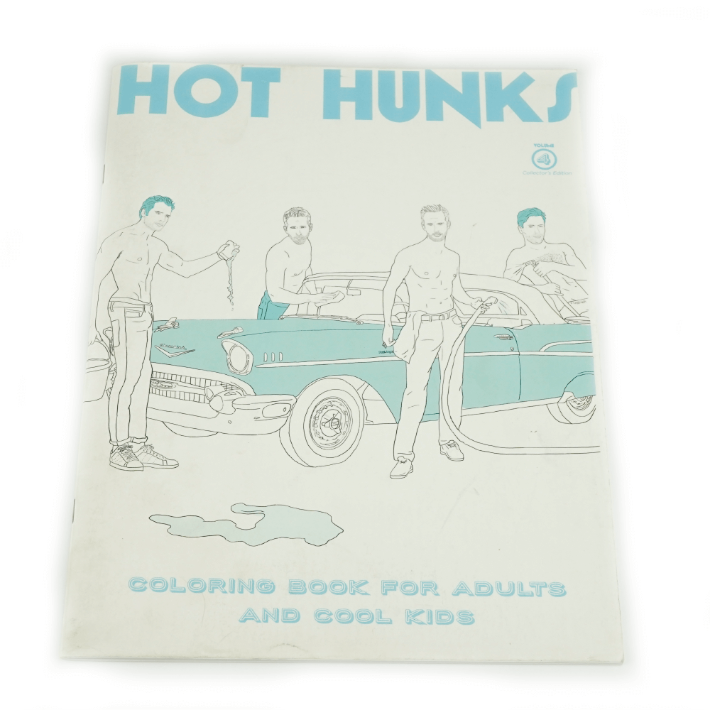 Hot Hunks Libro Para Colorear _1