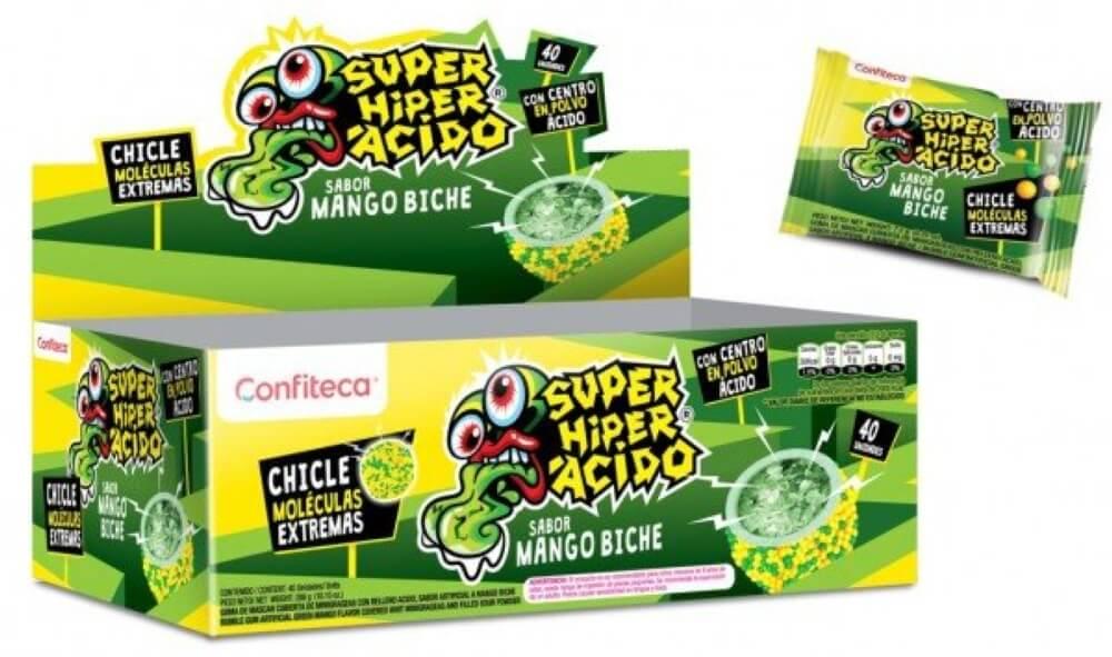 CHICLE SUPER HIPER ACIDO MOLECULA MANGO BICHE *40und *_1