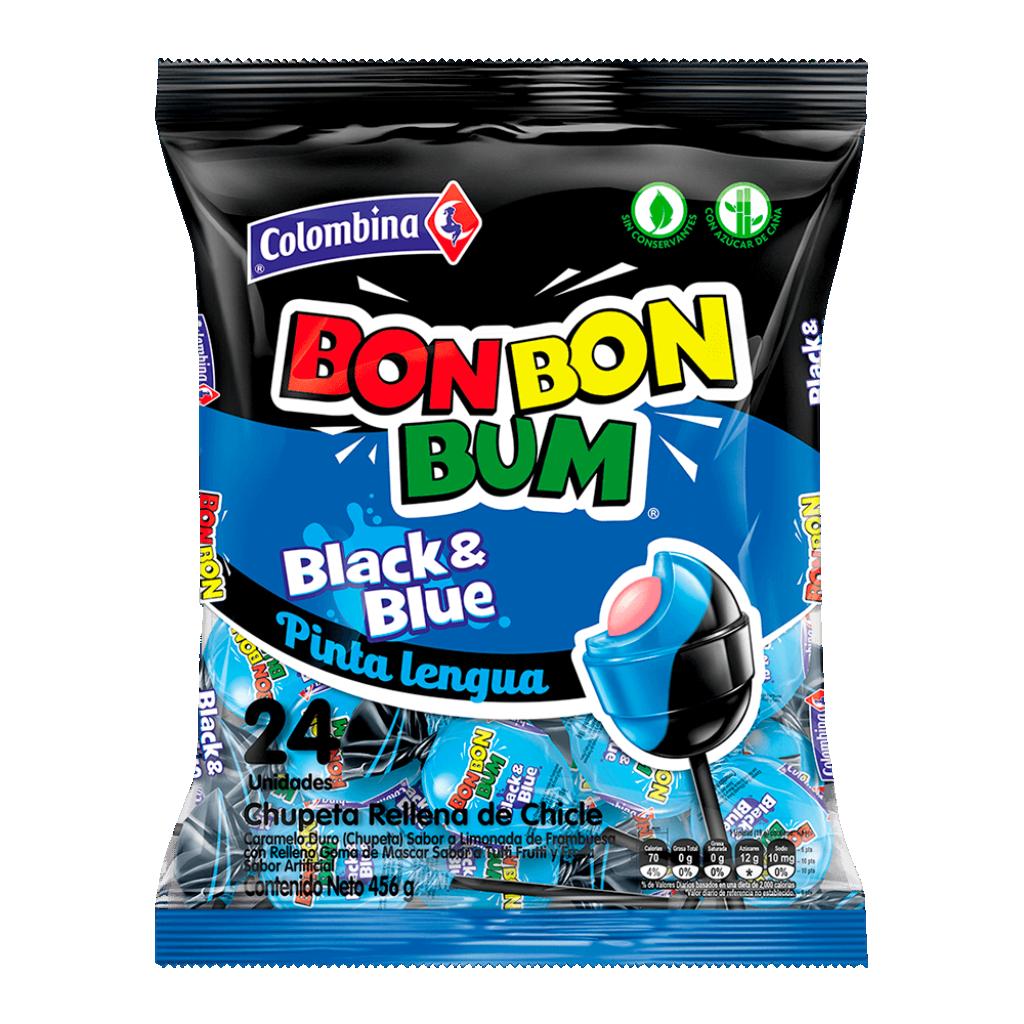 CHUPETE BON BON BUM BLACK & BLUE *24und *456gr_1