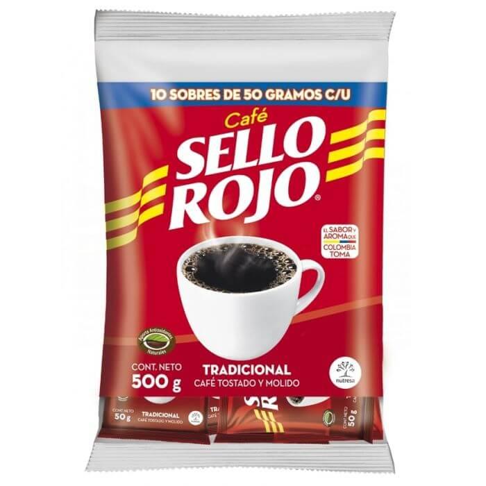 CAFÉ SELLO ROJO SOBRES *10und *500gr_1