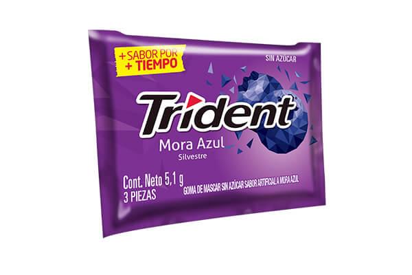 CHICLE TRIDENT MORA AZUL 3 PASTILLAS *122,4gr _1