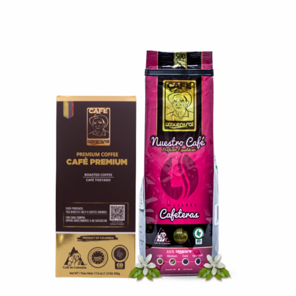 Dúo Café Premium 500 g  Café Mujeres 500 g_1