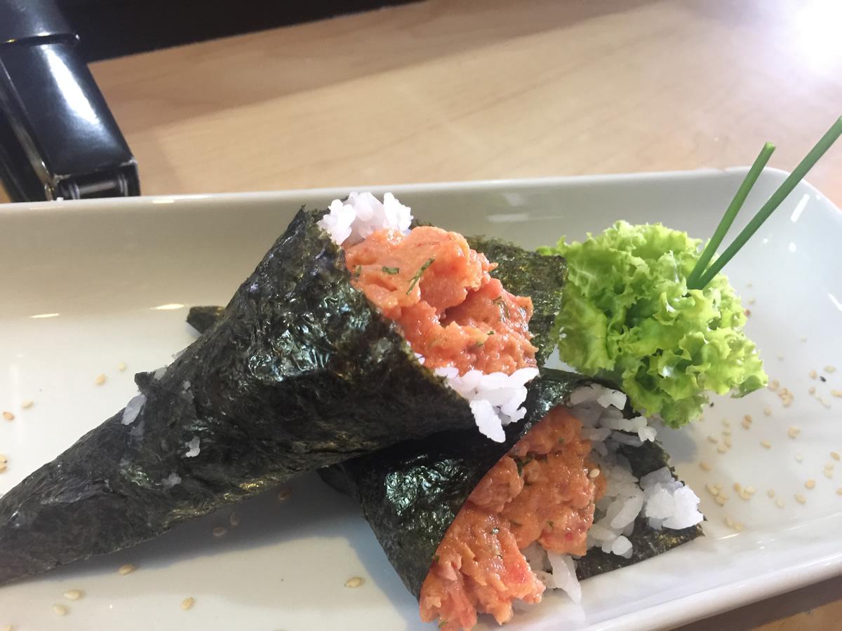 Temaki de 2 conos de sushi_1