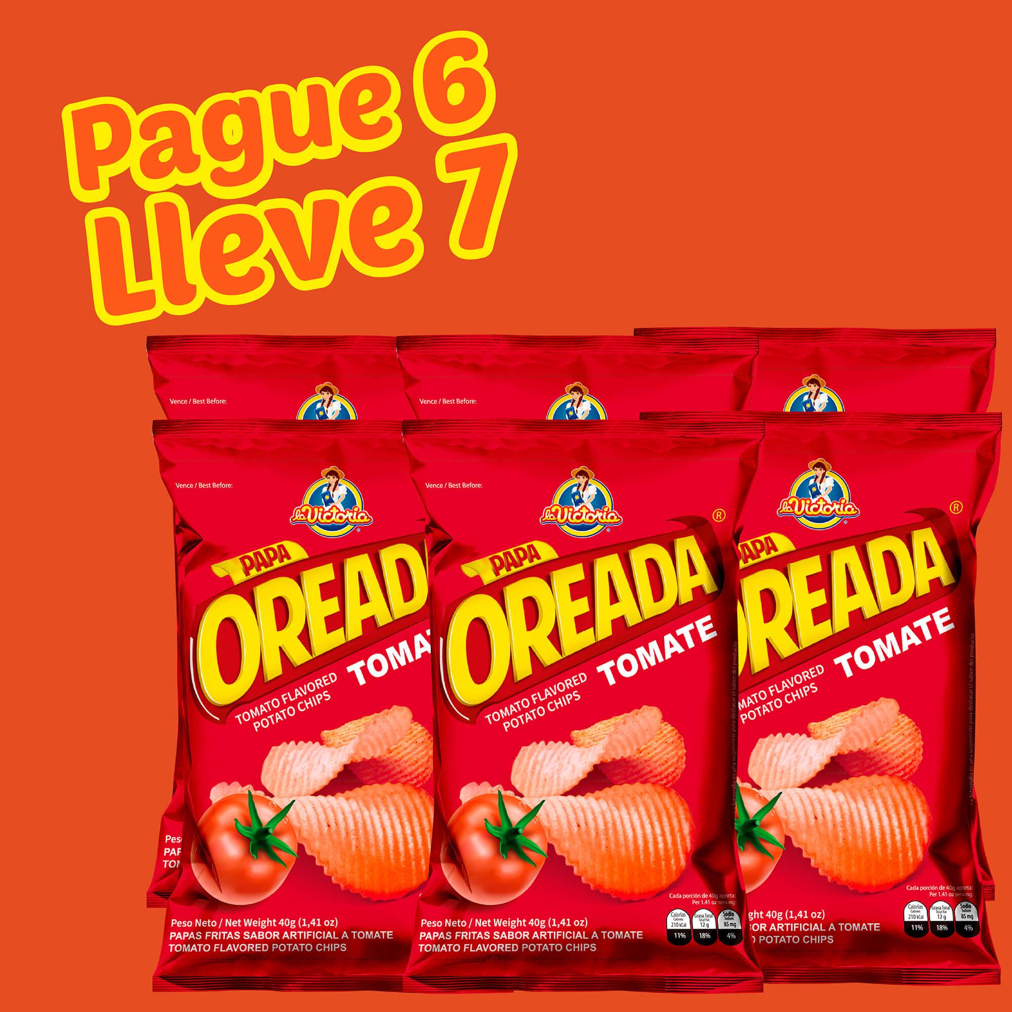 Papa Oreada Tomate 40 g (Display PAGUE 6 LLEVE 7 UND.)_2