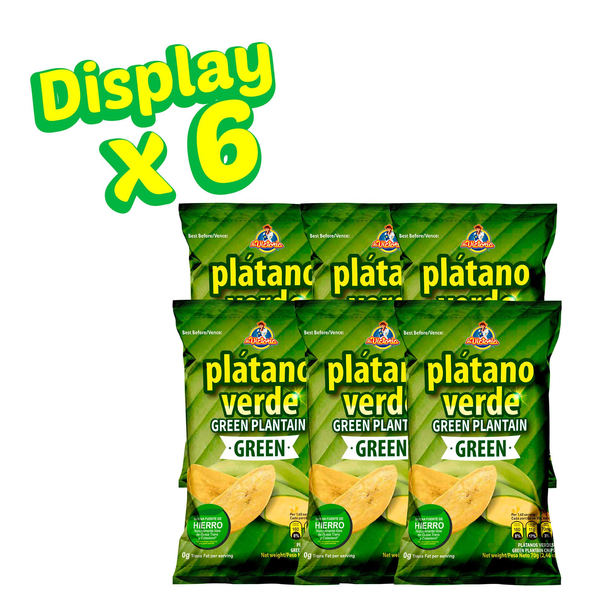 Plátano Verde Green 70 g (Dislpay x 6 UND.)_2
