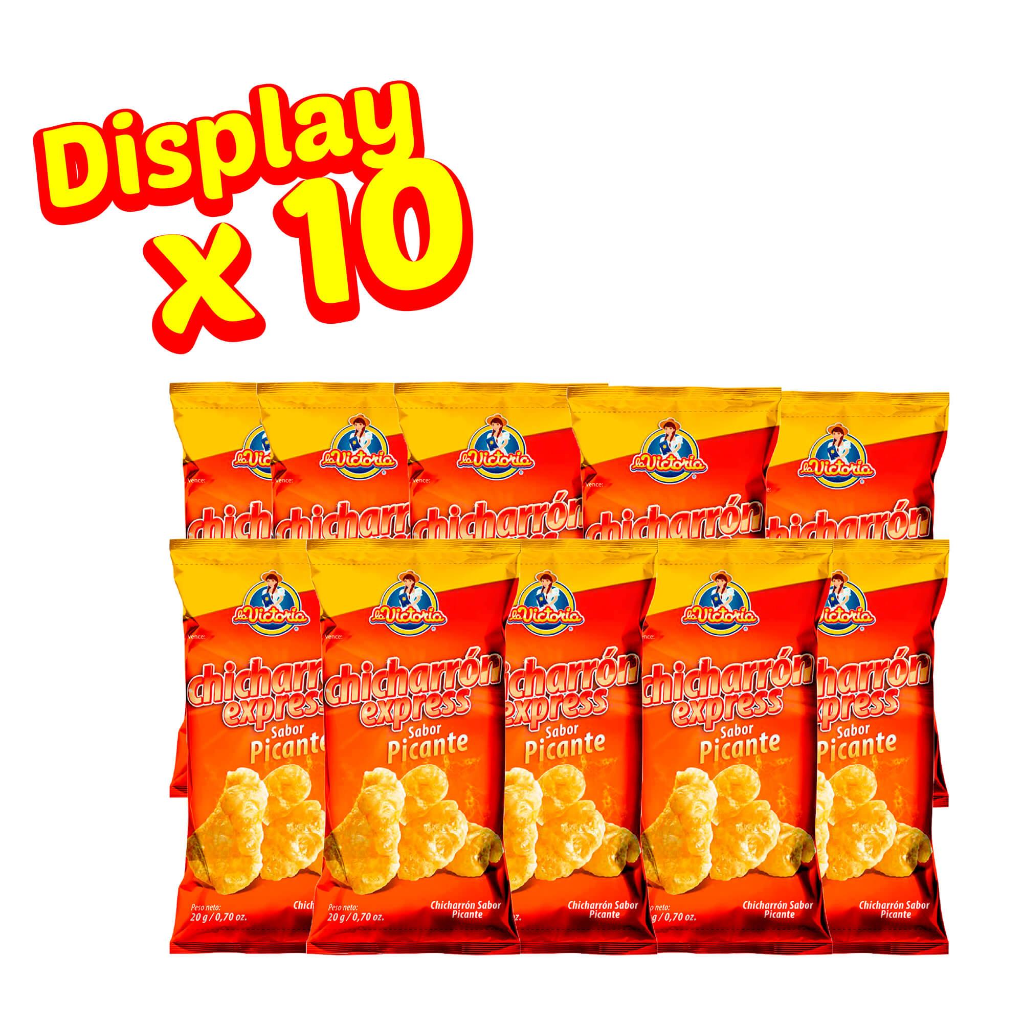 Chicharrón Express Picante 20 gr. (Display x 10 UND.)_2