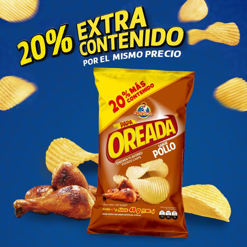 Oreada Extra contenido pollo 48 g (Display PAGUE 6 LLEVE 7 UND.)_1