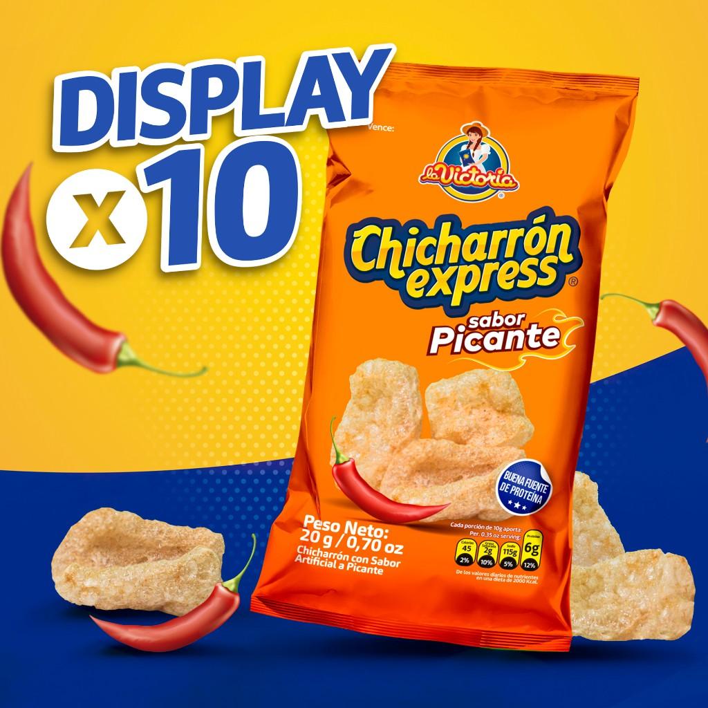 Chicharrón Express Picante 20 gr. (Display x 10 UND.)_1