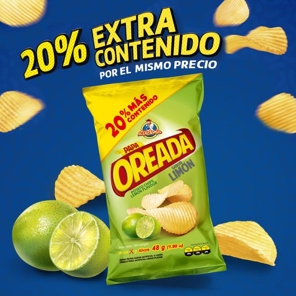 Oreada Extra contenido limón 48 g (Display PAGUE 6 LLEVE 7 UND.)_1