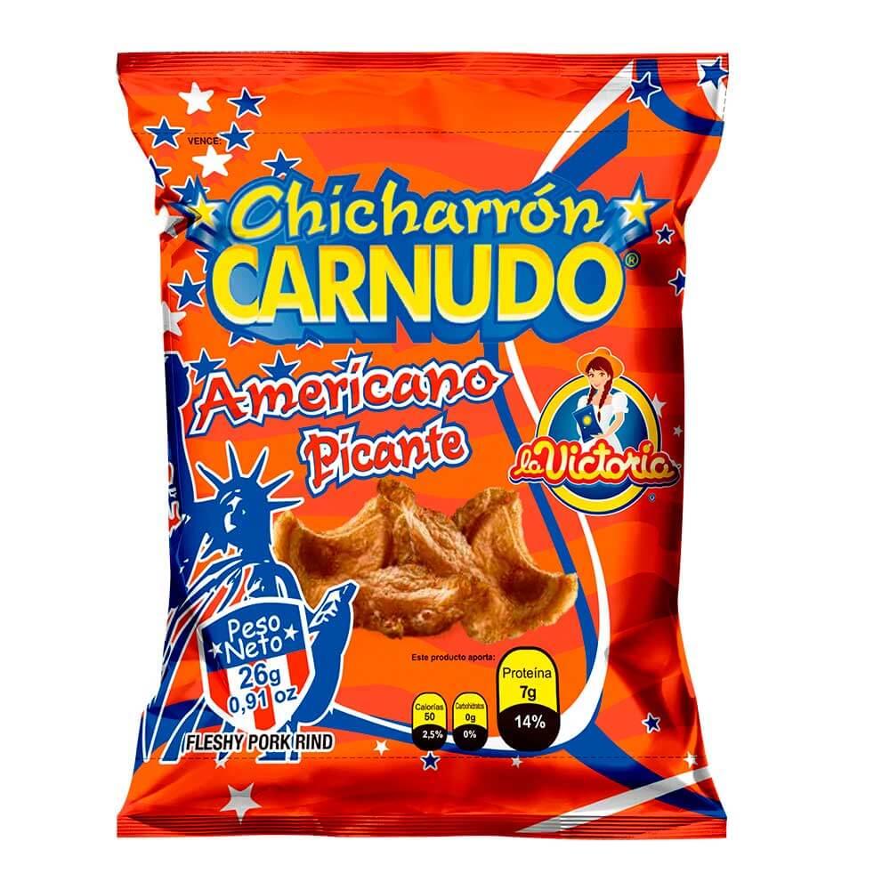 Chicharrón Carnudo Picante 25 g (Display x 6 UND.)_1