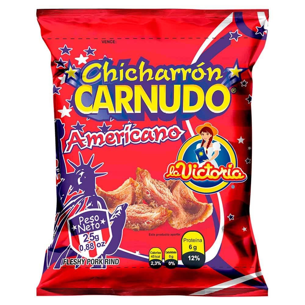 Chicharrón Carnudo Natural 25 g (Display x 6 UND.)_1