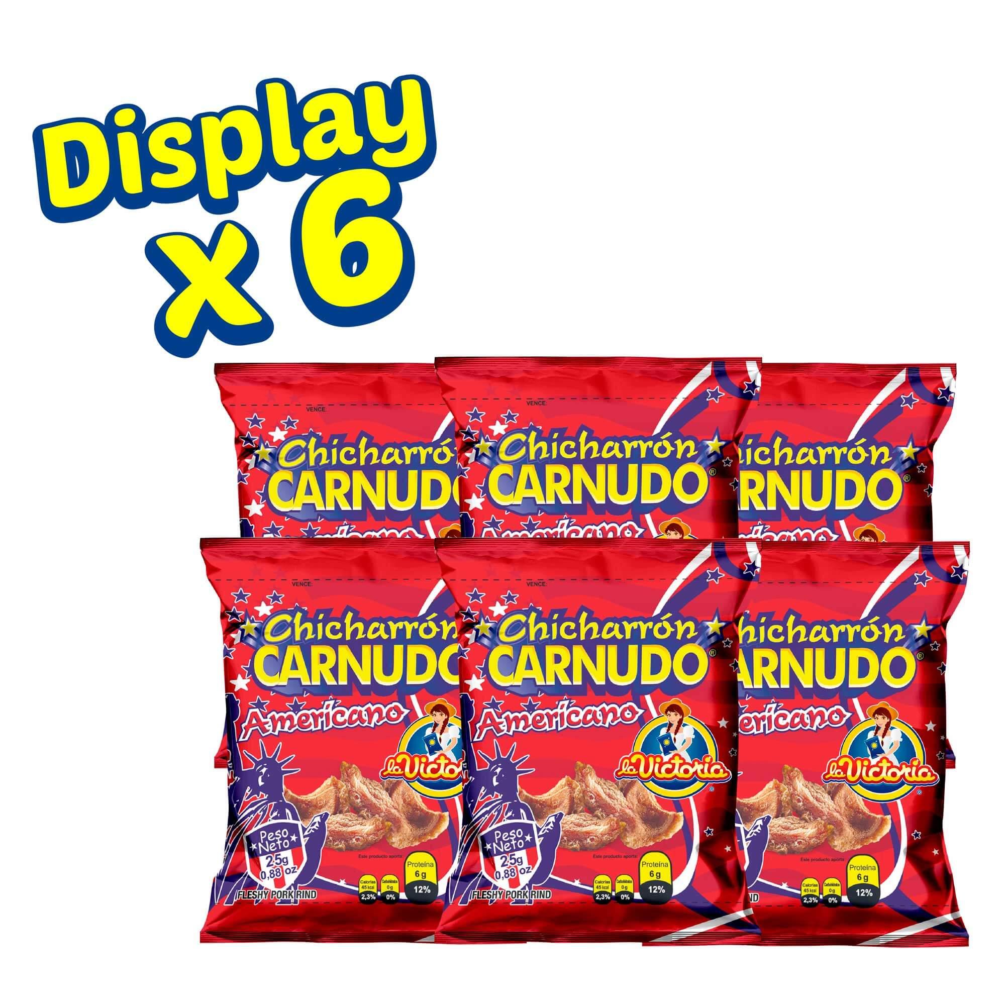Chicharrón Carnudo Natural 25 g (Display x 6 UND.)_2
