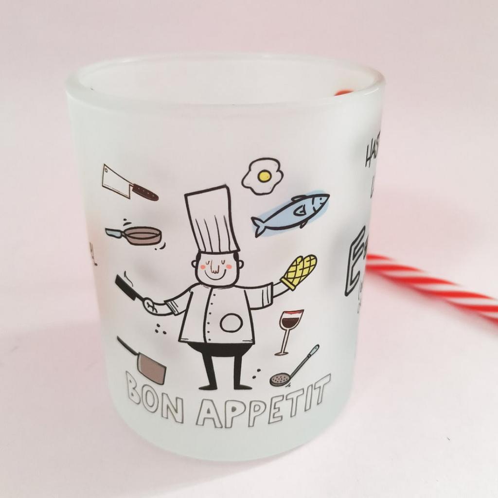 Mug cocinero 11 oz vidrio opalizado_2