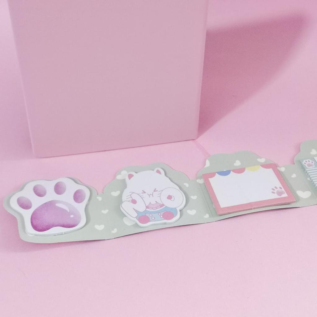 Notas adhesivas garras de gato violeta_3