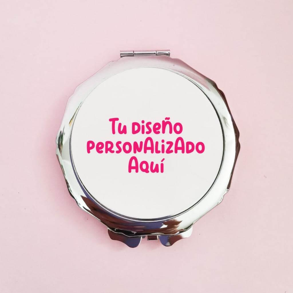 Espejo flor redondo personalizado_1