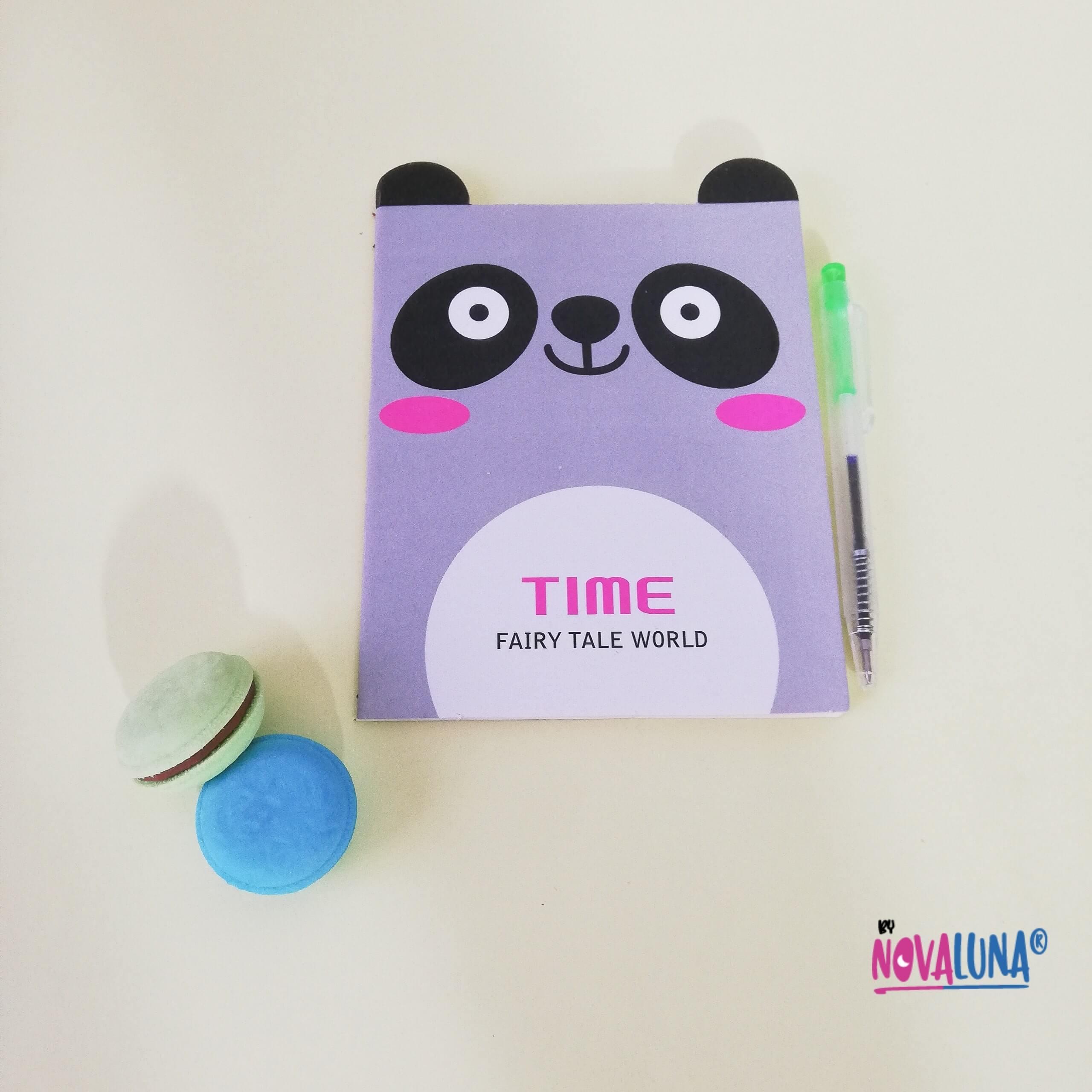 Libreta mini panda + esfero_2