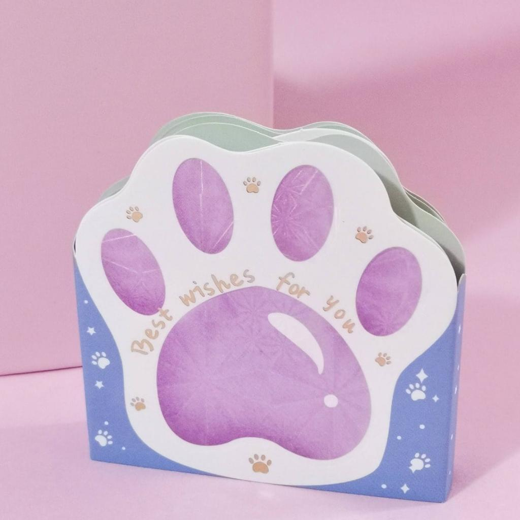 Notas adhesivas garras de gato violeta_2