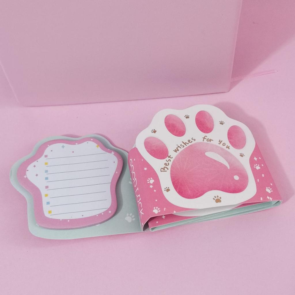 Notas adhesivas garras de gato rosa_2