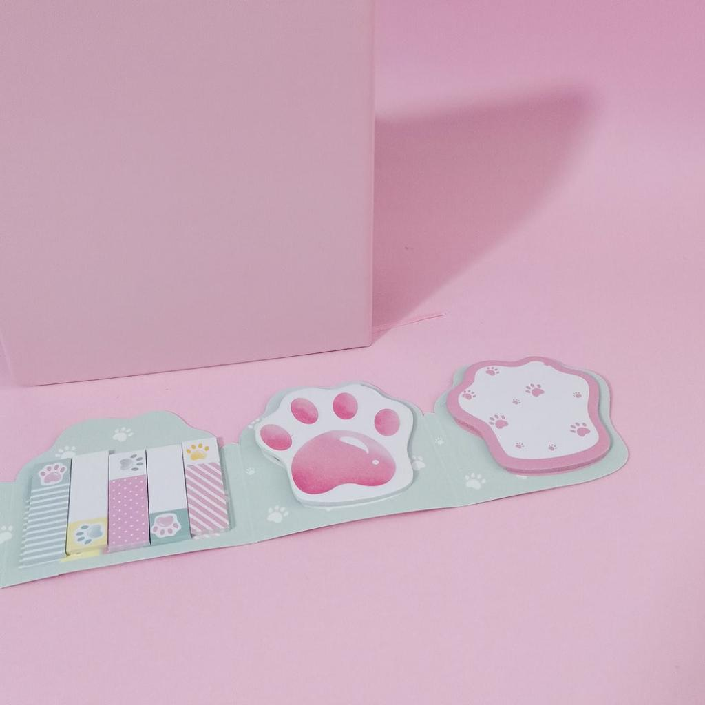 Notas adhesivas garras de gato rosa_4