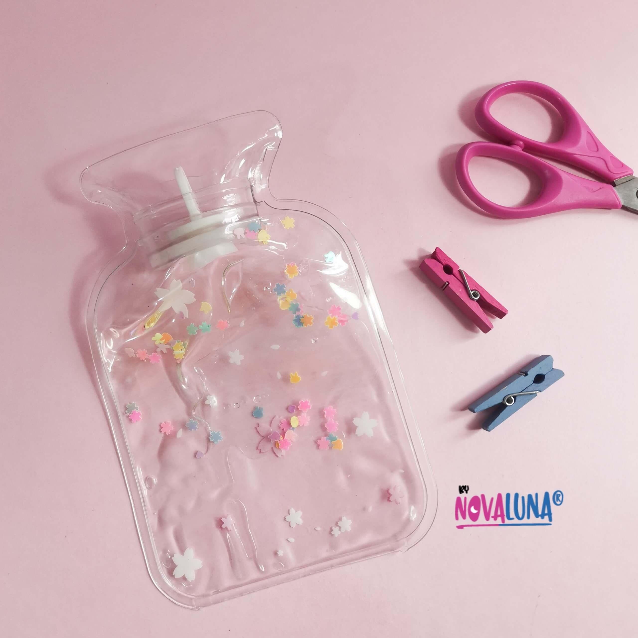Bolsa cólico gel flor rosa_1