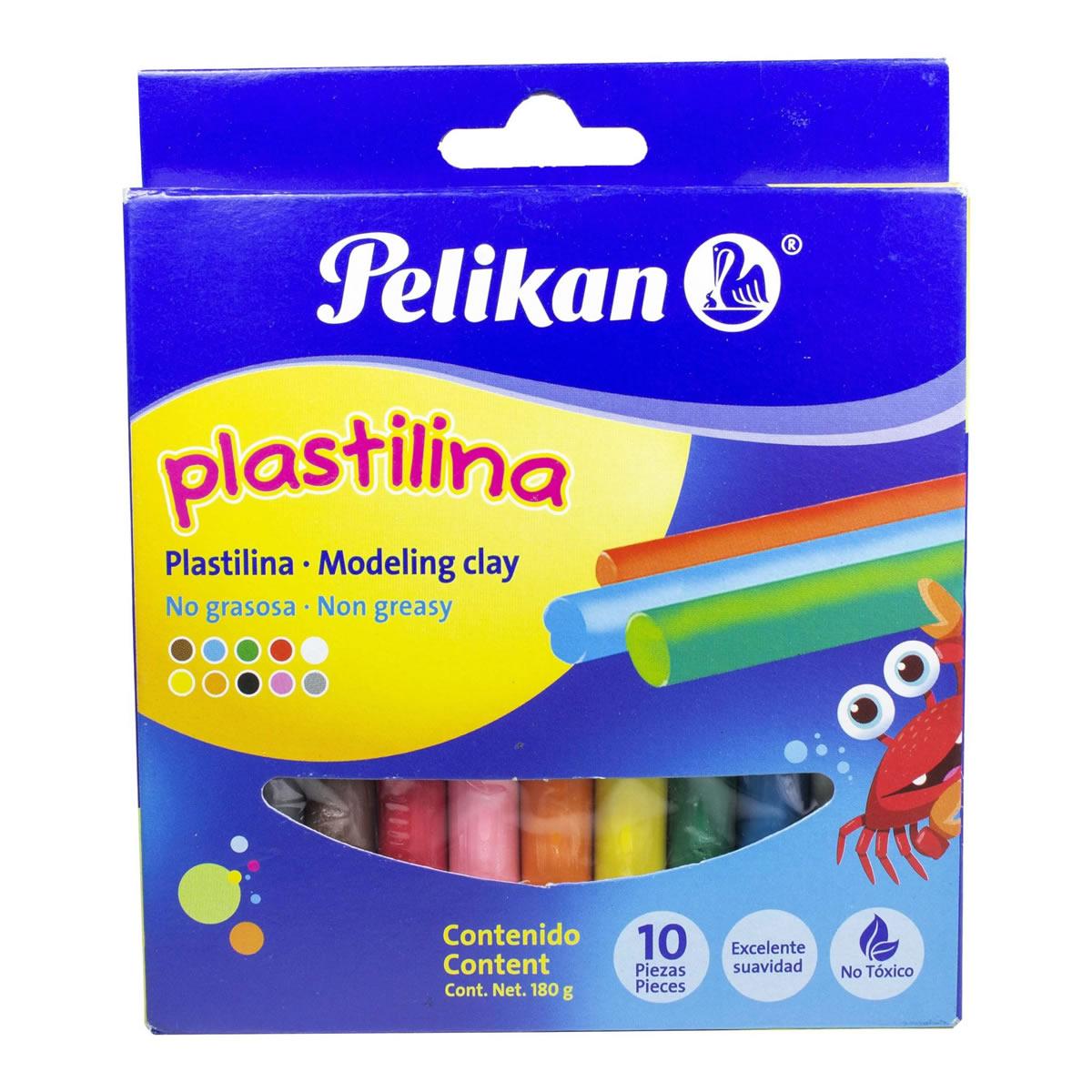 PLASTILINA X10 COLOR STDO PELIKAN_1