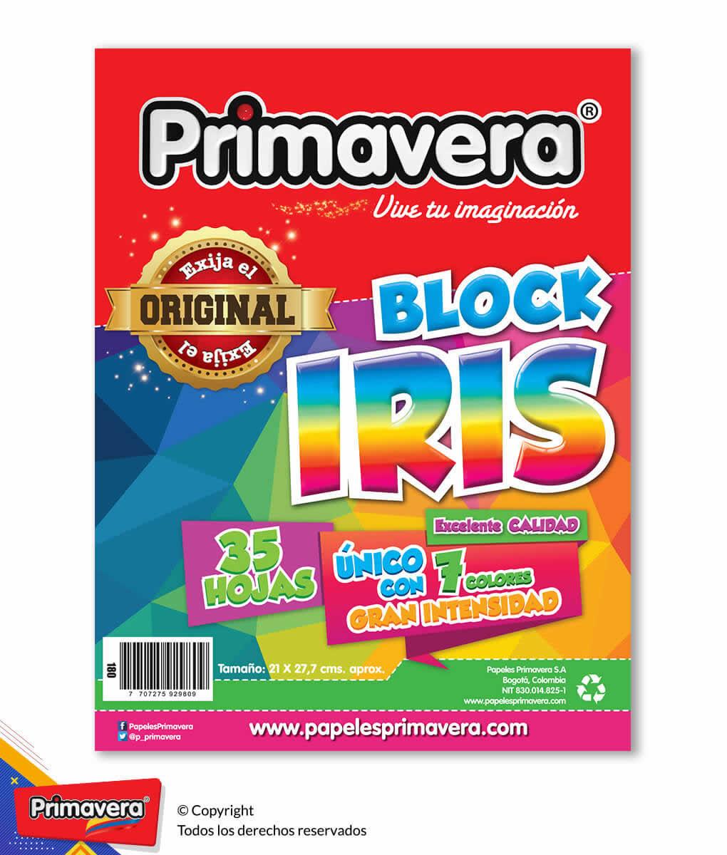 BLOCK CARTA IRIS 180 PRIMAVERA_1
