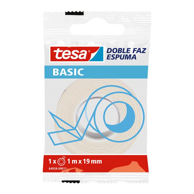 CINTA DOBLE FAZ ESPUMA 19MMX1MM BASIC TESA_1