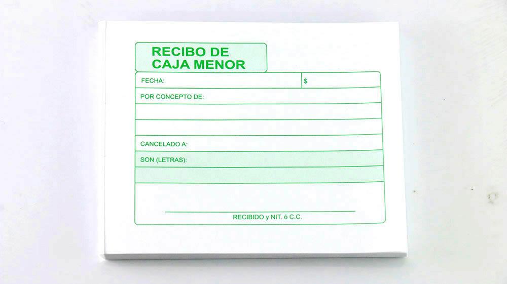 RECIBO CAJA MENOR X100H D Q C_1