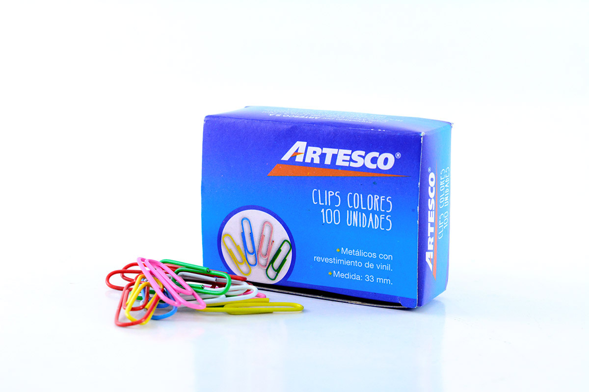GANCHO CLIP COLORES X100 ARTESCO_1