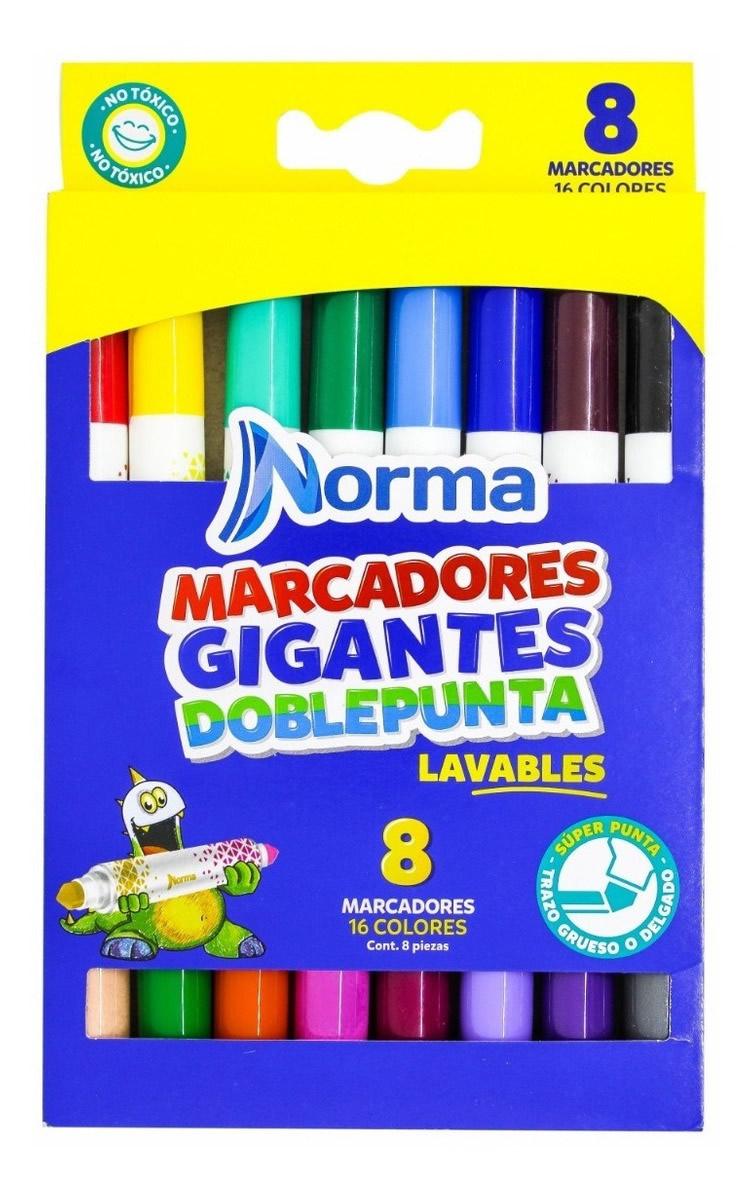 MARCADOR DOBLE PUNTA GIGANTE X8 544611 NORMA_1