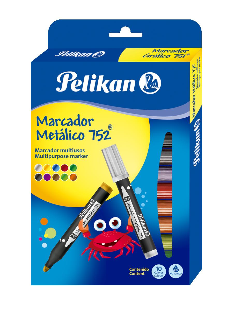 MARCADOR METALICO 752 X10 COLOR PELIKAN_1