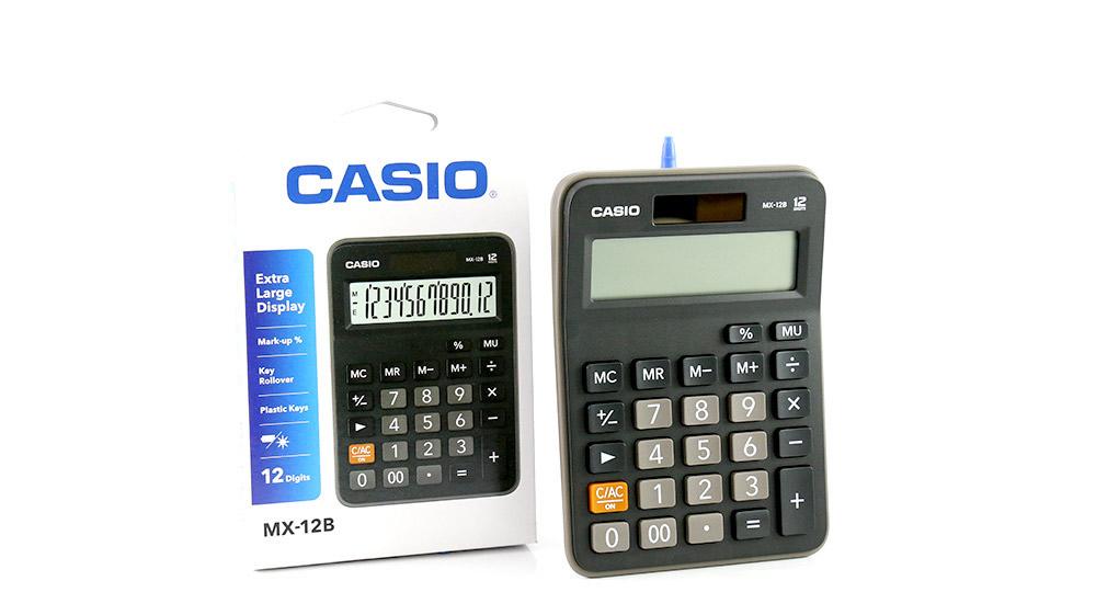 CALCULADORA CASIO -12DIGITOS -BK NEGRO_1